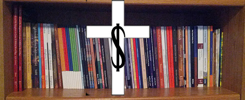 bookshelf cross dollar